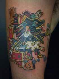 A-tribal-Aztec-tattoo-design-of-Xolotl-the-Aztec-god-of-fire-and-death-594x792