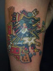 A-tribal-Aztec-tattoo-design-of-Xolotl-the-Aztec-god-of-fire-and-death-594x792