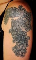 This-tribal-Aztec-tattoo-shows-Quetzalcoatl-the-Aztec-god-of-life